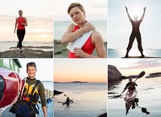 bildbyråbilder löpning paddling porträtt