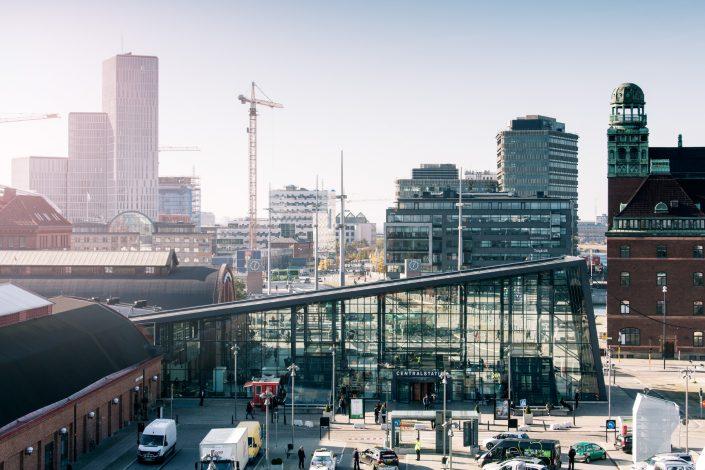 Malmö centralstation arkitektur arkitekturfoto